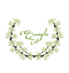 decoration of pine branches vector image vector image