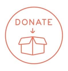 Donation box line icon vector image