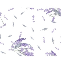 Floral lavender retro vintage background vector image vector image