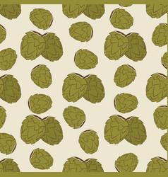 green hop seamless pattern design - vintage vector image