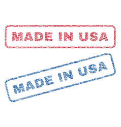 Made in usa textile stamps vector