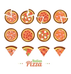 Pizza Food Set vector image vector image