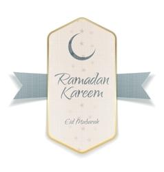 Ramadan kareem eid mubarak paper poster vector