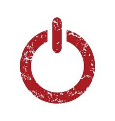 Red grunge power logo vector