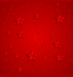 Red stars abstract background vector image