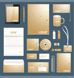 scientific set of corporate identity vector image