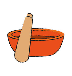 Spa massage stick with bowl vector