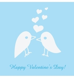 St Valentines day greeting card with birds vector image