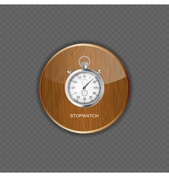 Stopwatch wood application icons vector image