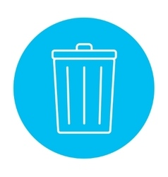 Trash can line icon vector image