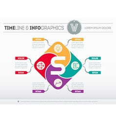 Web template of the business development strategy vector