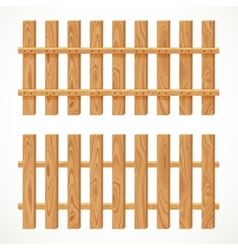 Wooden fence from long planking vector image