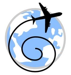 World travel symbol vector image
