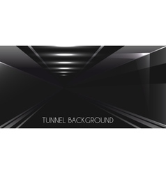 Dark tunnel background vector