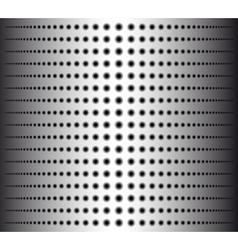Technology background with circle perforated metal vector image