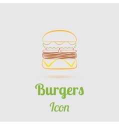 Icon of tasty burger vector