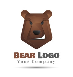 Modern professional grizzly bear logo for a sport vector image
