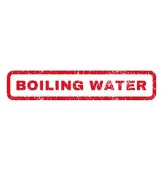 Boiling water rubber stamp vector