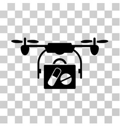 Airdrone pharmacy delivery icon vector