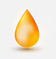 Realistic yellow oil drop on white backgrou vector