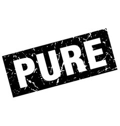 Square grunge black pure stamp vector