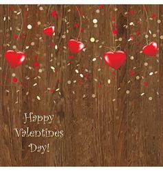 Valentines wooden panel vector