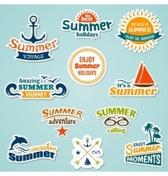 Summer element sticker vector