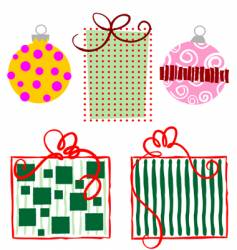 Ornaments-gifts vector