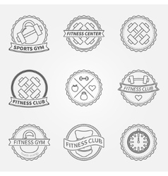 Sports and fitness logo emblem graphics set vector
