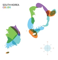 Abstract color map of south korea vector