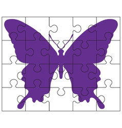 Puzzle and butterfly vector