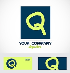 Green blue letter q logo vector
