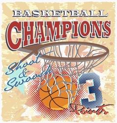 star basketball sport vector image