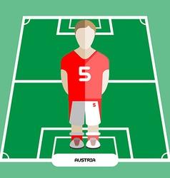 Computer game austria soccer club player vector