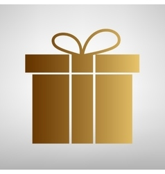 Gift box sign flat style icon vector