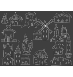 House chalk vector
