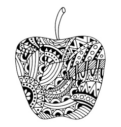 Beautiful patterns stylized apple vector