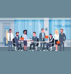 business team brainstorming meeting group of vector image