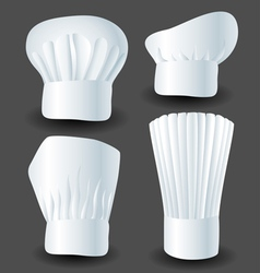 Chef hat set vector image vector image