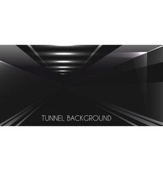 Dark Tunnel background vector image vector image