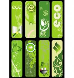 Eco set vector