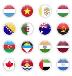 Flags set of the world vector image vector image
