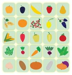 Flat iconshealthy food vector