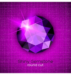 Gemstone round shaped on textured background vector image