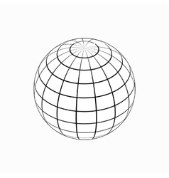 Globe icon isometric 3d style vector image