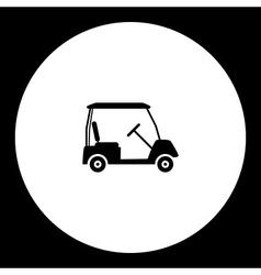 Golf sport cart simple black icon eps10 vector