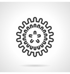 Influenza virus black line design icon vector image