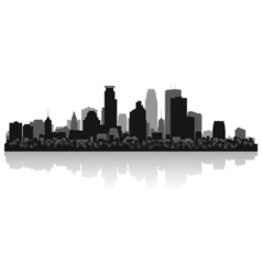Minneapolis USA city skyline silhouette vector image