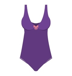 one piece bikini with bow vector image vector image