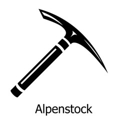 pickaxe icon simple black style vector image